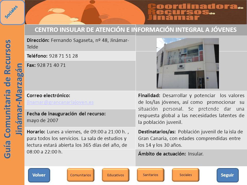 CENTRO INSULAR DE ATENCIÓN E INFORMACIÓN INTEGRAL A JÓVENES
