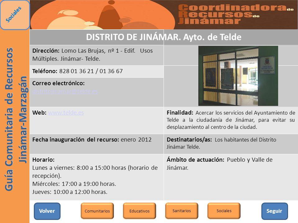 DISTRITO DE JINÁMAR. Ayto. de Telde