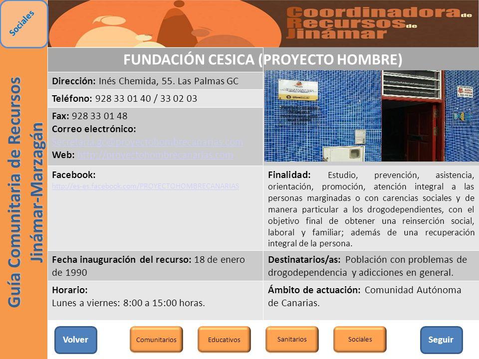 FUNDACIÓN CESICA (PROYECTO HOMBRE)