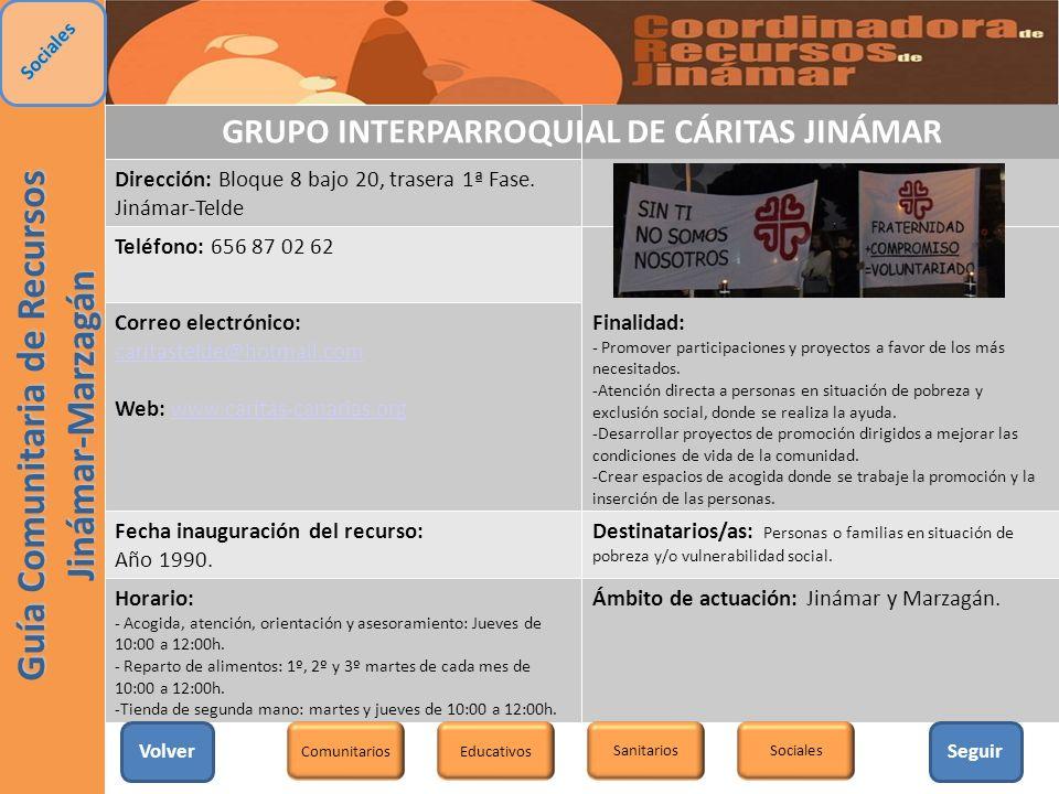 GRUPO INTERPARROQUIAL DE CÁRITAS JINÁMAR