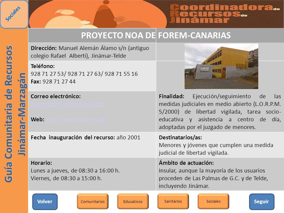 PROYECTO NOA DE FOREM-CANARIAS