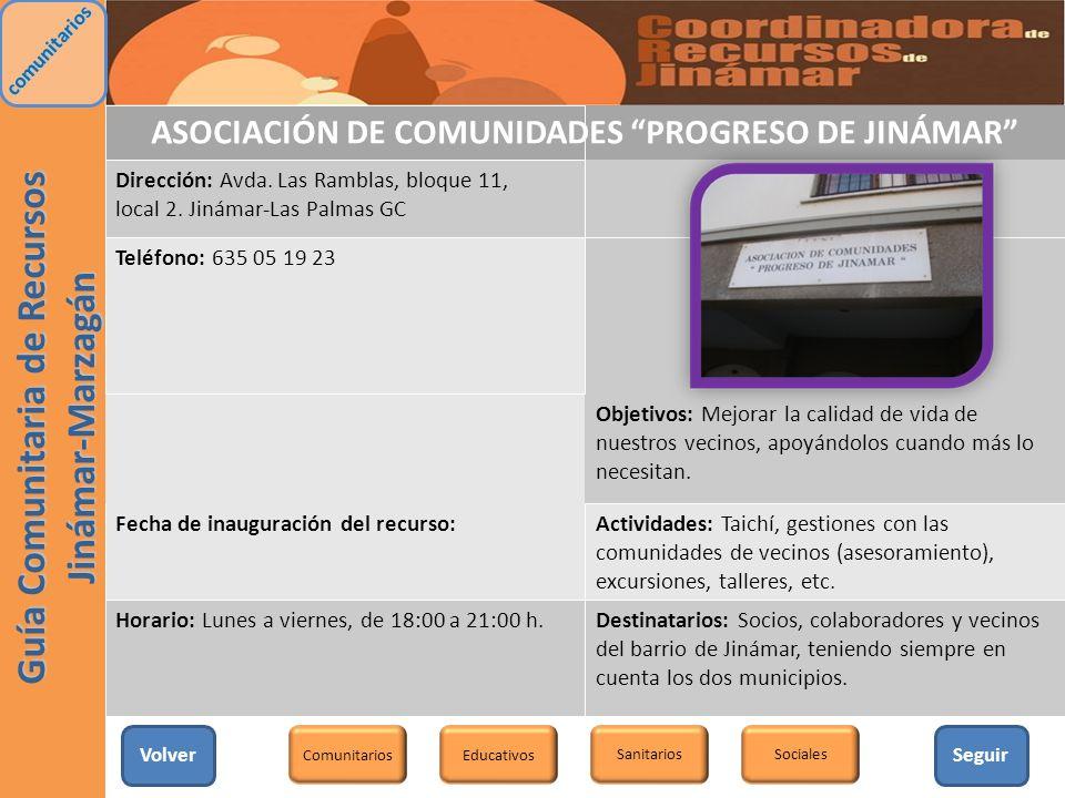 ASOCIACIÓN DE COMUNIDADES PROGRESO DE JINÁMAR