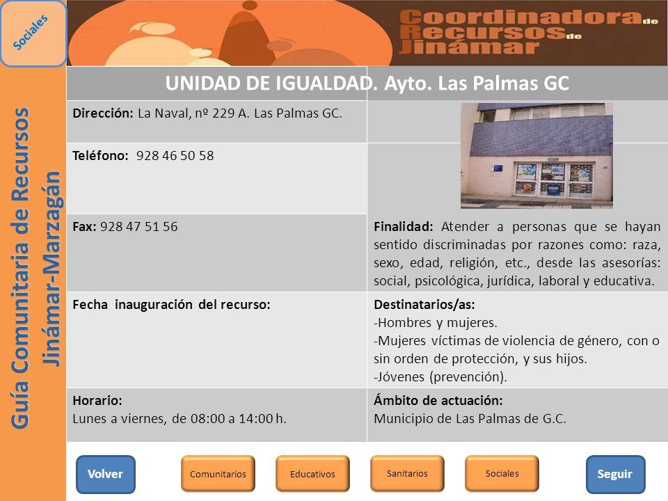UNIDAD DE IGUALDAD. Ayto. Las Palmas GC