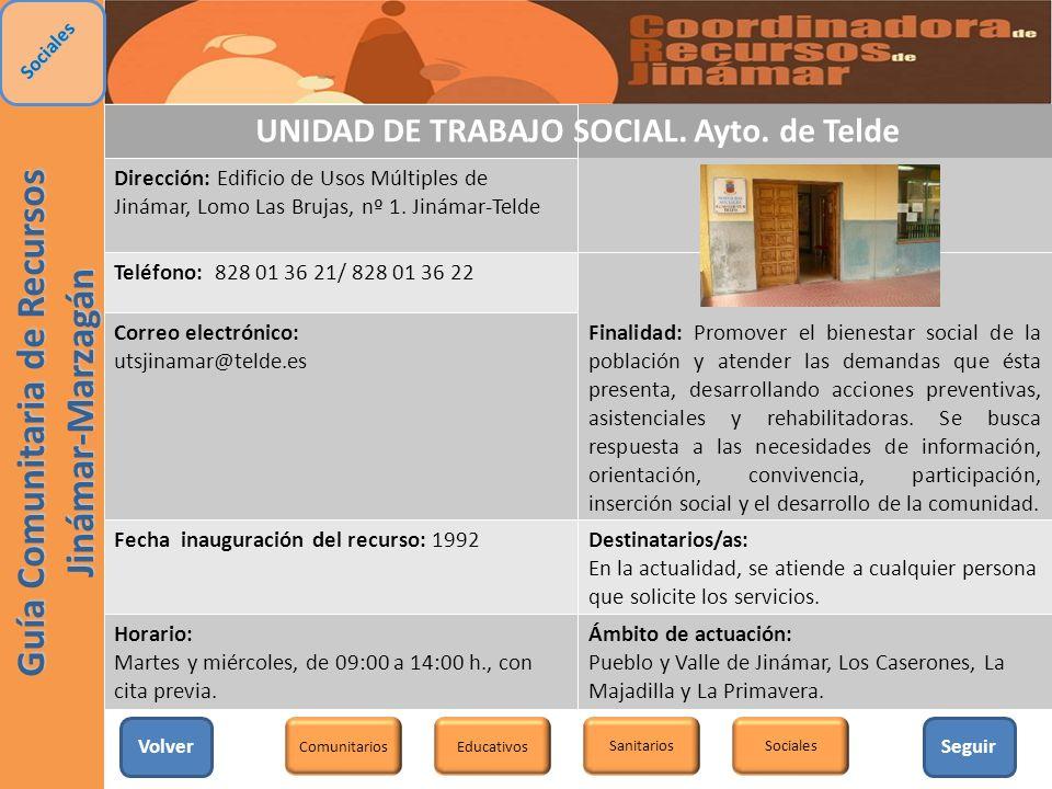 UNIDAD DE TRABAJO SOCIAL. Ayto. de Telde