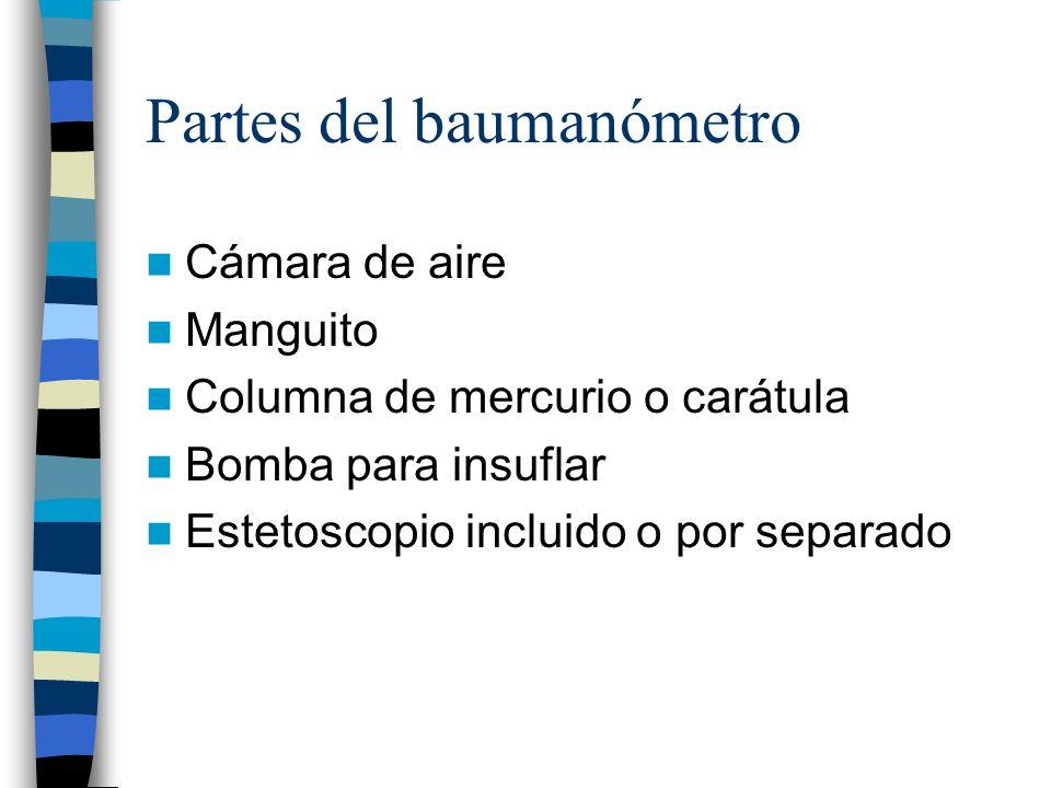 Partes del baumanómetro