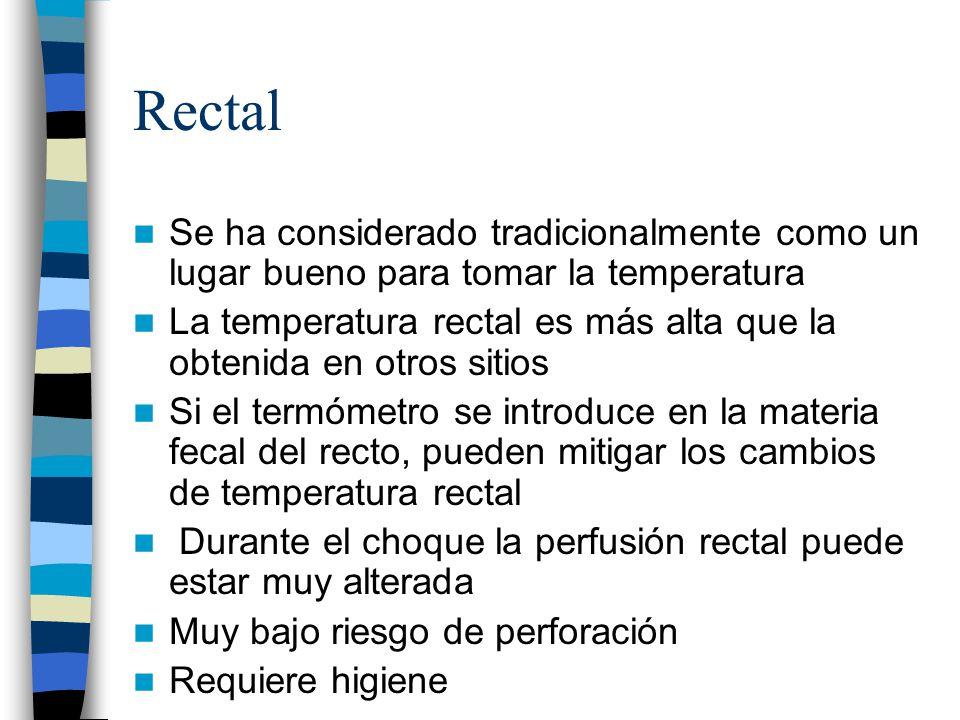 Rectal Se ha considerado tradicionalmente como un lugar bueno para tomar la temperatura.