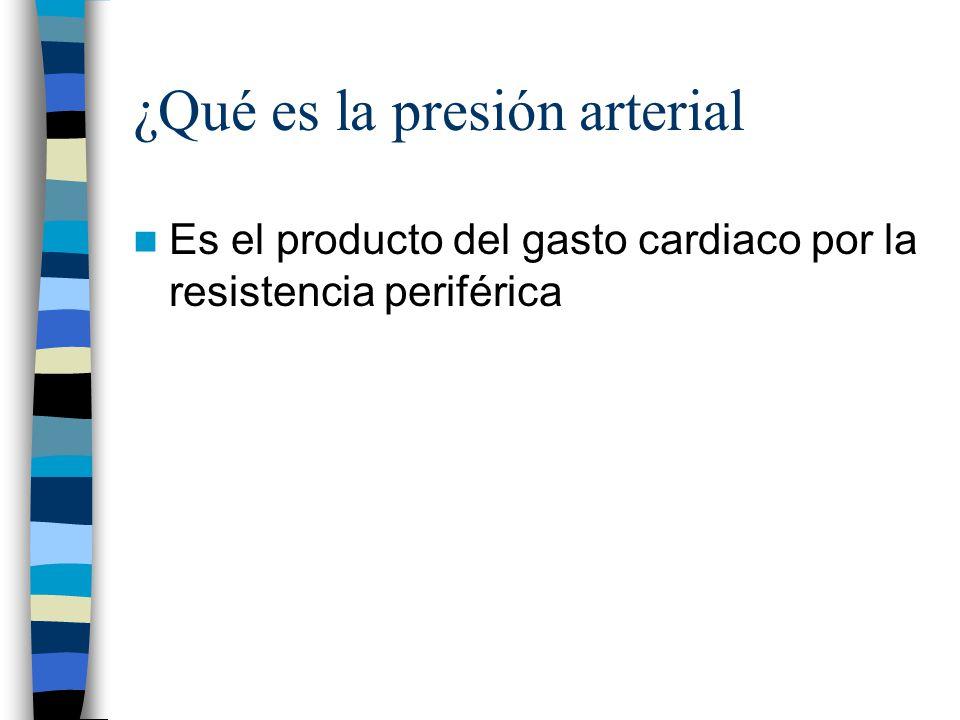 ¿Qué es la presión arterial