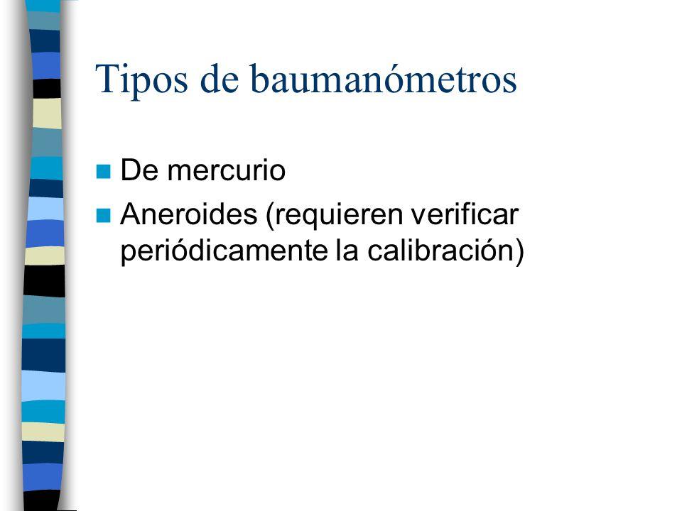 Tipos de baumanómetros