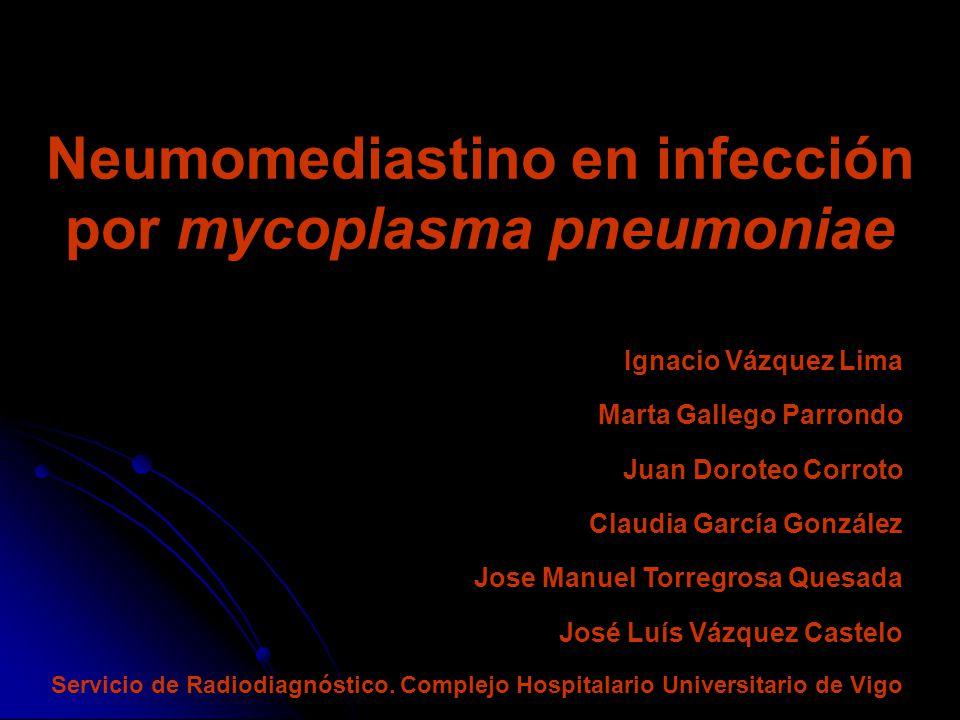 Neumomediastino en infección por mycoplasma pneumoniae