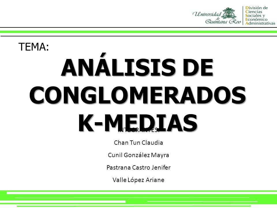 ANÁLISIS DE CONGLOMERADOS