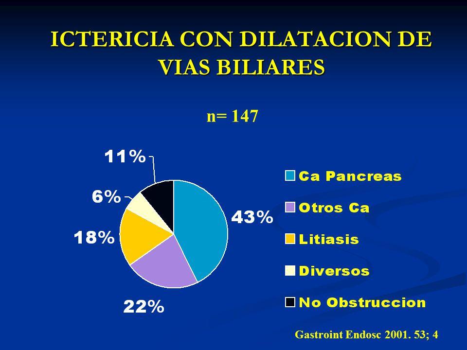 ICTERICIA CON DILATACION DE VIAS BILIARES