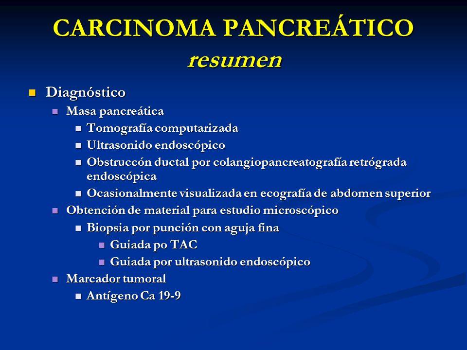 CARCINOMA PANCREÁTICO resumen