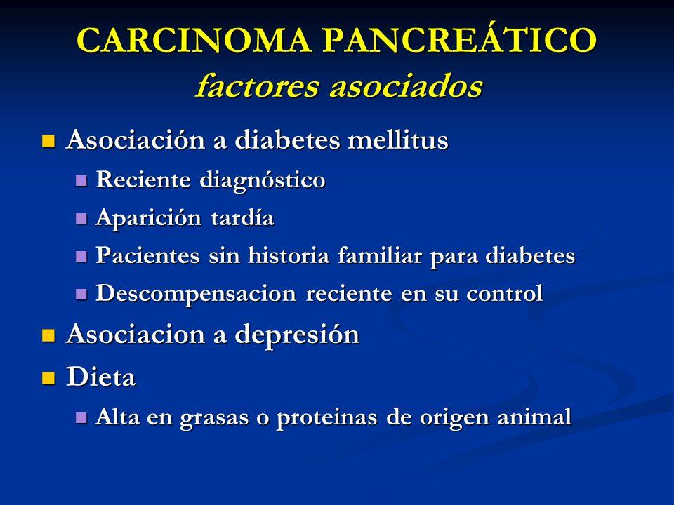 CARCINOMA PANCREÁTICO factores asociados