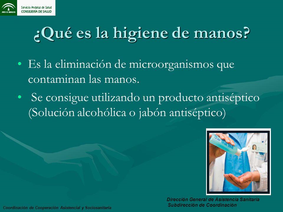 ¿Qué es la higiene de manos