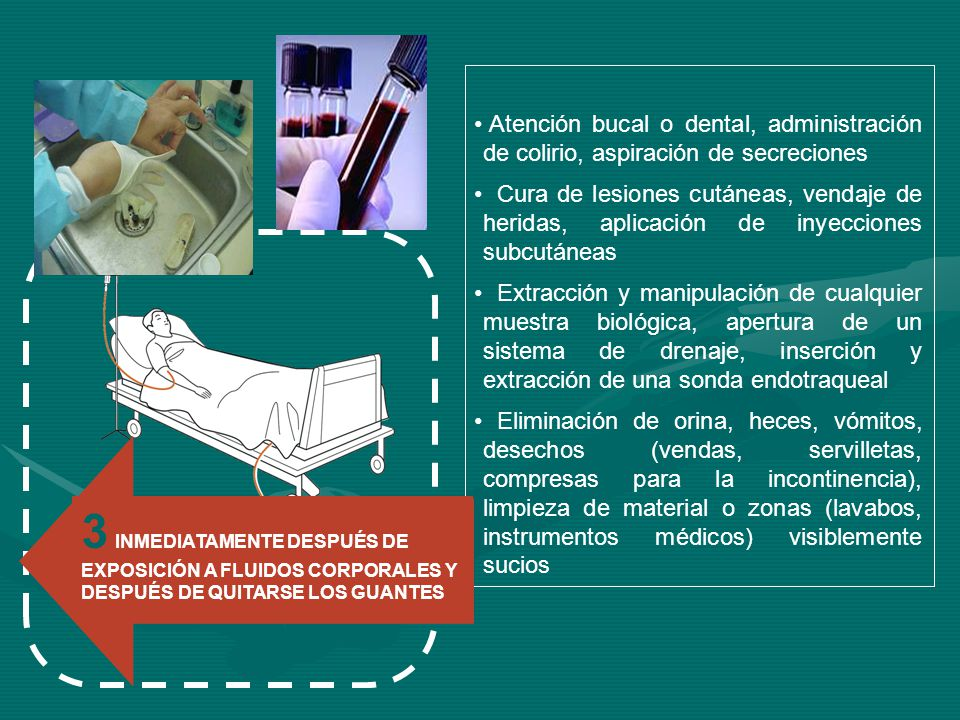Atención bucal o dental, administración de colirio, aspiración de secreciones