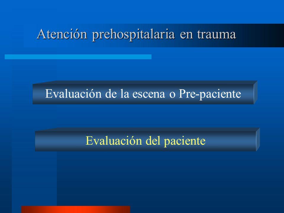Atención prehospitalaria en trauma
