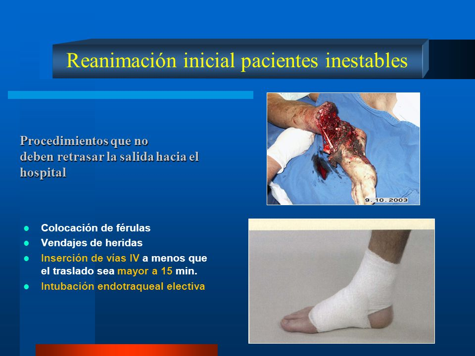 Reanimación inicial pacientes inestables