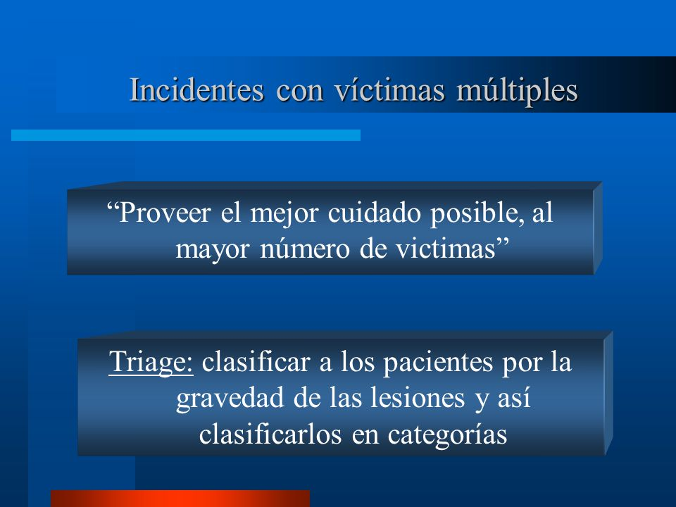 Incidentes con víctimas múltiples