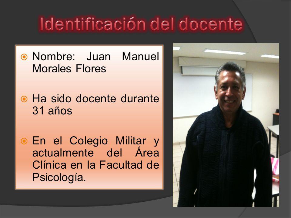 Identificación del docente