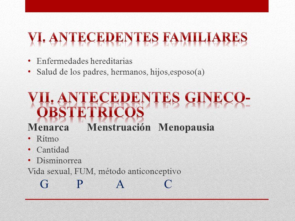 Vii. Antecedentes gineco-obstetricos