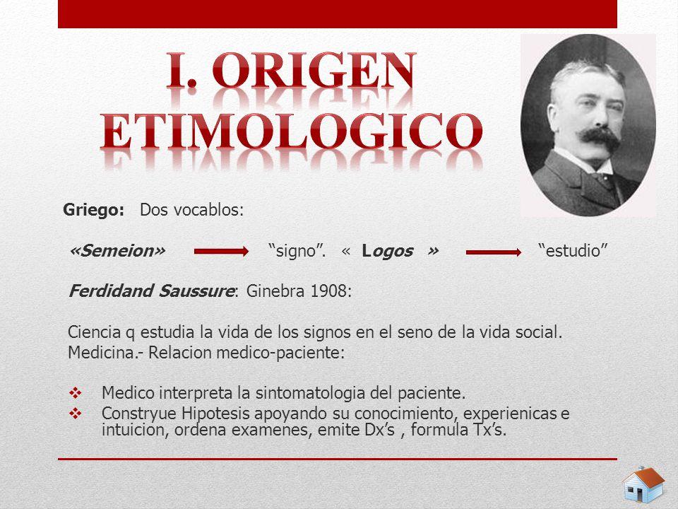 i. Origen etimologico Griego: Dos vocablos: