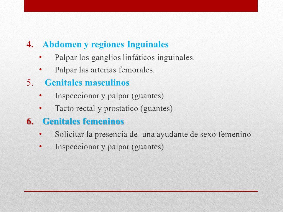 Abdomen y regiones Inguinales