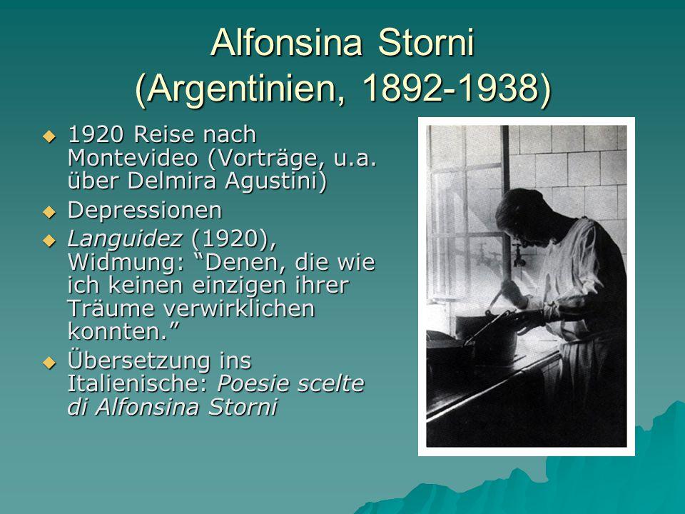 Alfonsina Storni (Argentinien, 1892-1938)