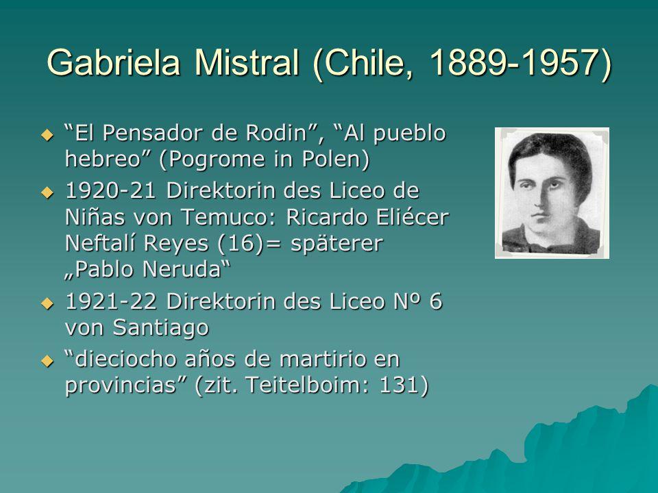 Gabriela Mistral (Chile, 1889-1957)
