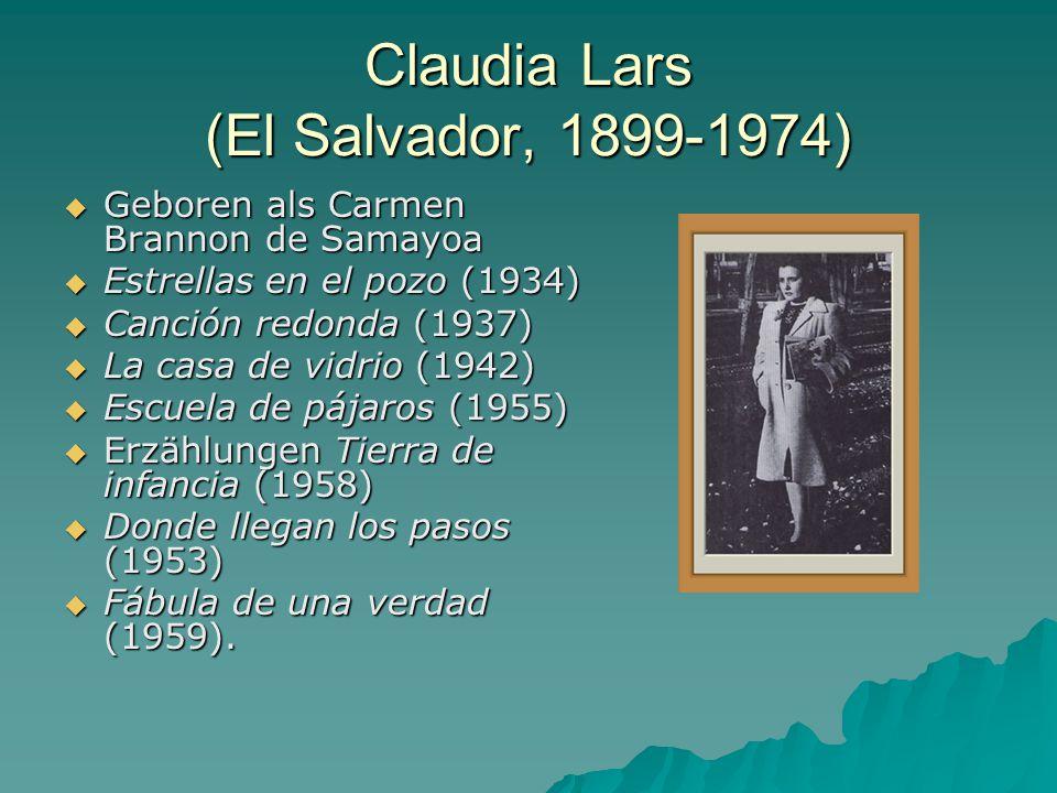 Claudia Lars (El Salvador, 1899-1974)