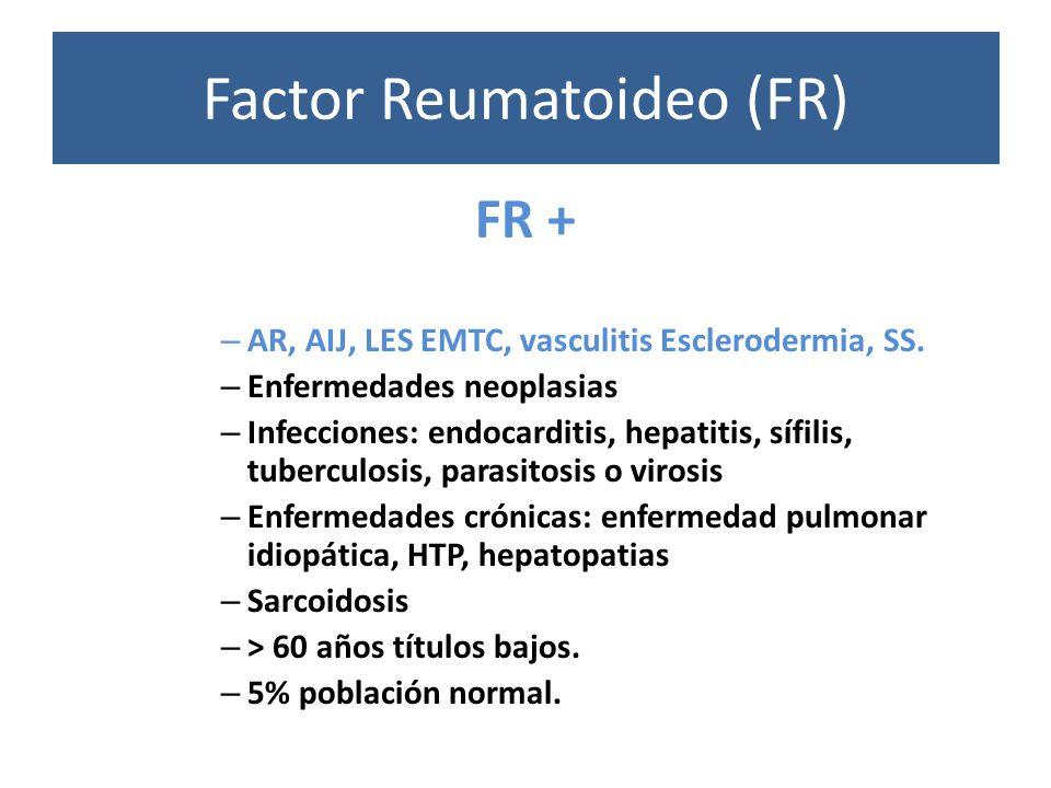 Factor Reumatoideo (FR)