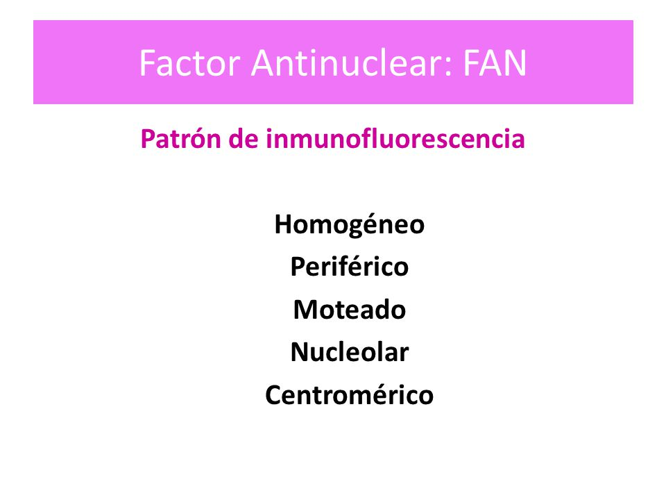 Factor Antinuclear: FAN