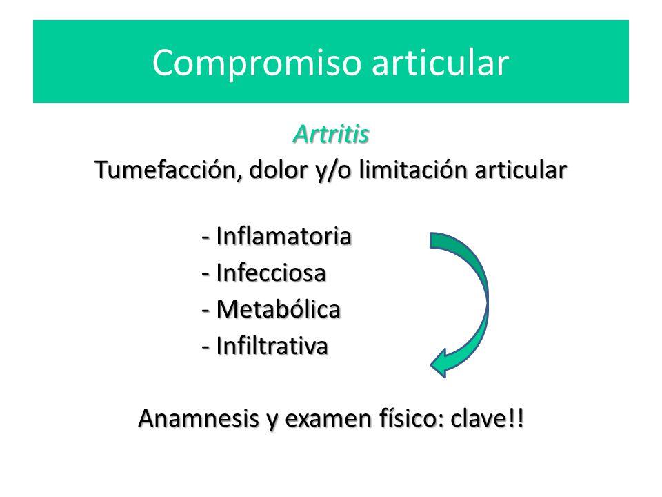 Compromiso articular Artritis