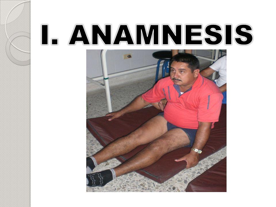 I. ANAMNESIS