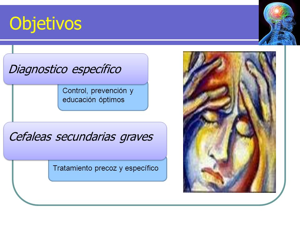 Objetivos Diagnostico específico Cefaleas secundarias graves
