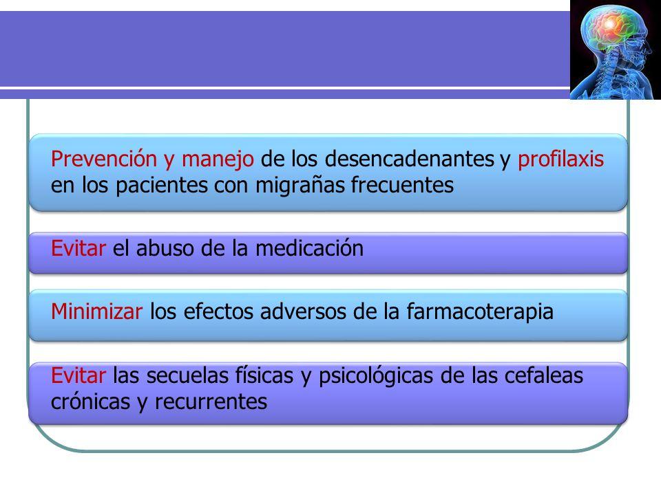 Prevención y manejo de los desencadenantes y profilaxis en los pacientes con migrañas frecuentes