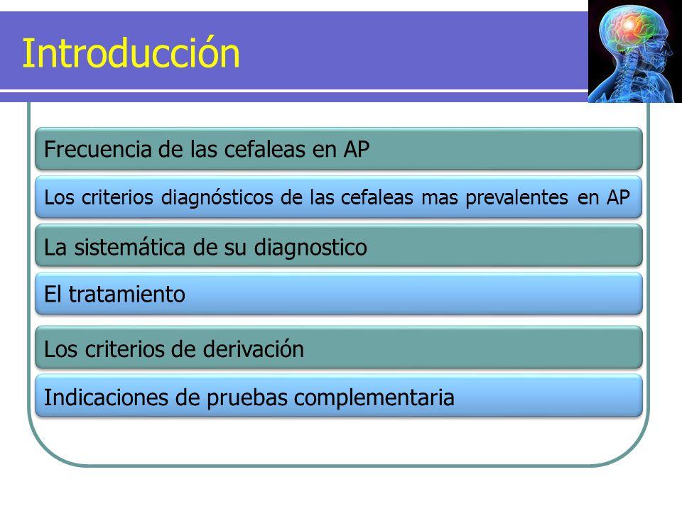 Introducción Frecuencia de las cefaleas en AP