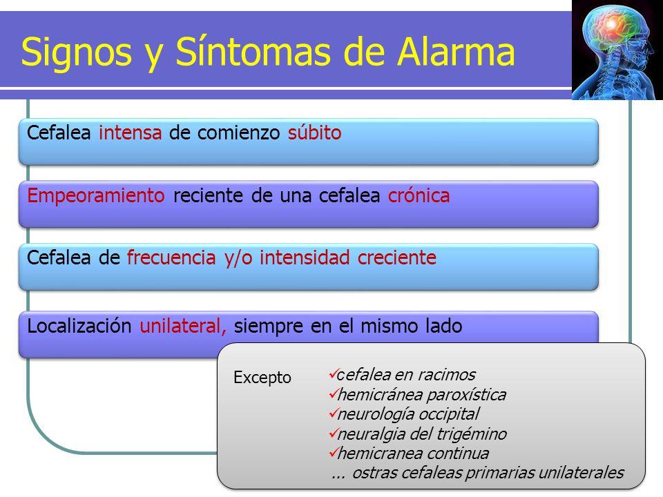 Signos y Síntomas de Alarma