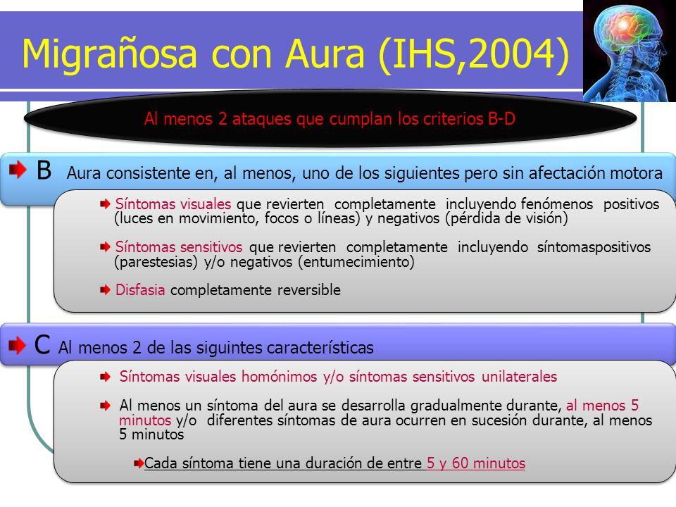 Migrañosa con Aura (IHS,2004)