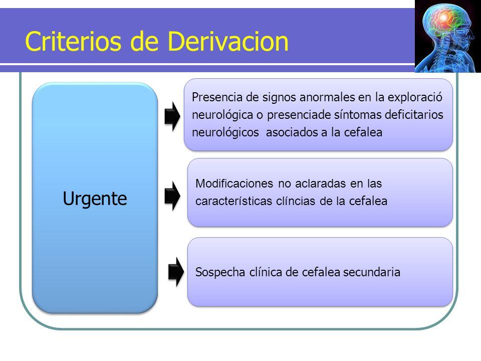 Criterios de Derivacion