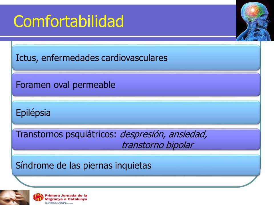 Comfortabilidad Ictus, enfermedades cardiovasculares