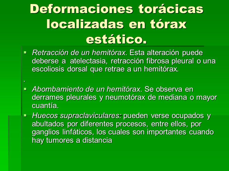 Deformaciones torácicas localizadas en tórax estático.