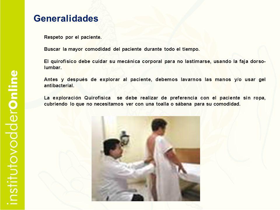 Generalidades Respeto por el paciente.
