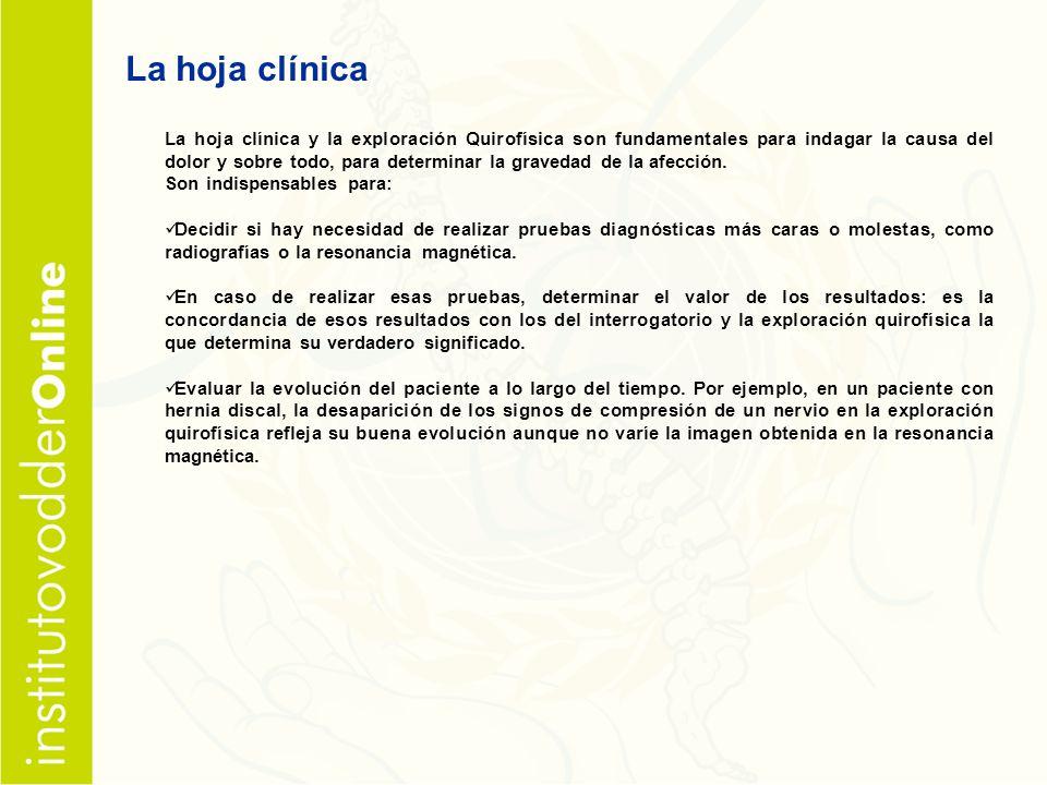 La hoja clínica