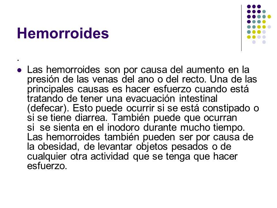Hemorroides .