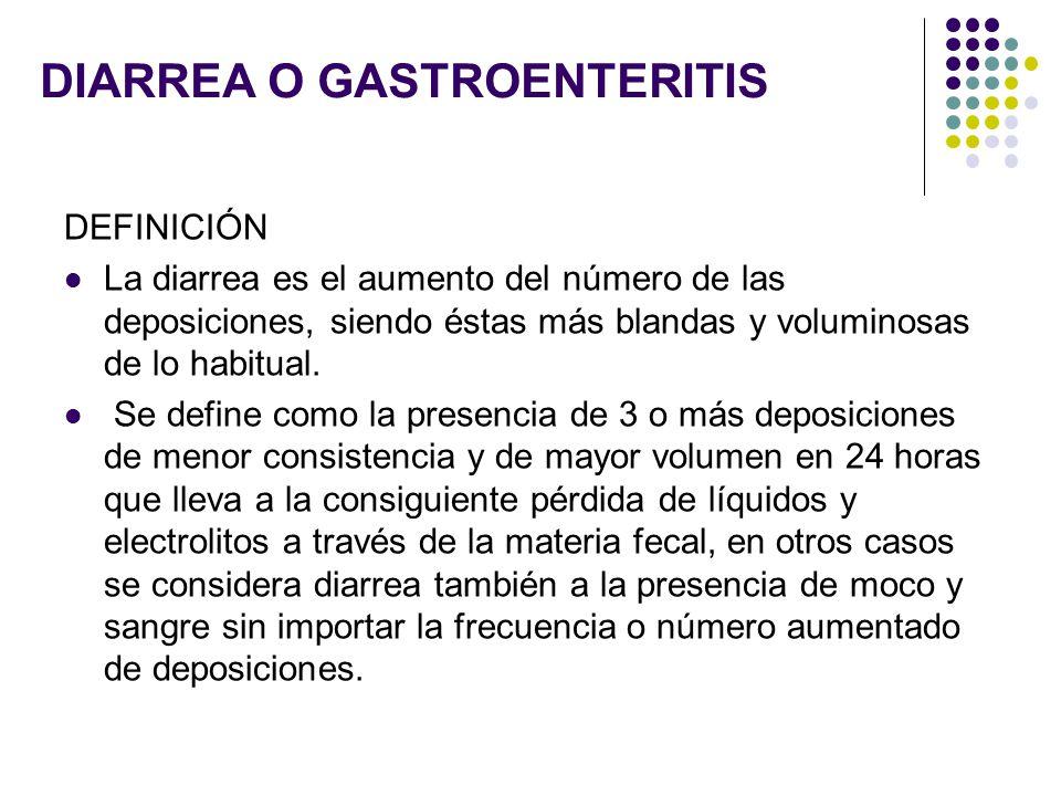 DIARREA O GASTROENTERITIS