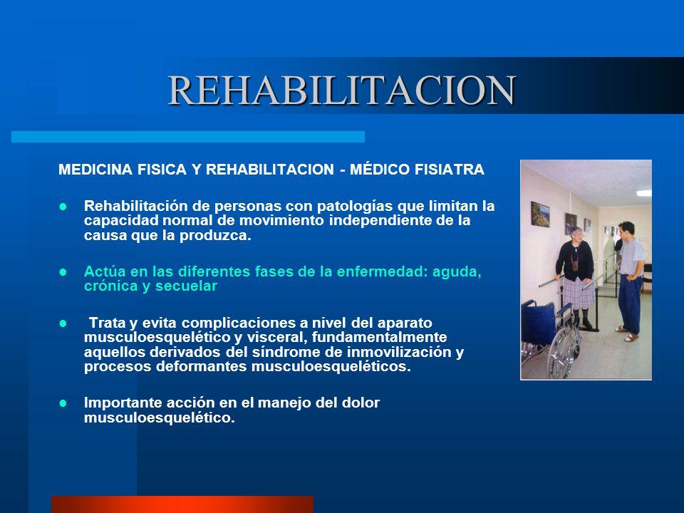 REHABILITACION MEDICINA FISICA Y REHABILITACION - MÉDICO FISIATRA