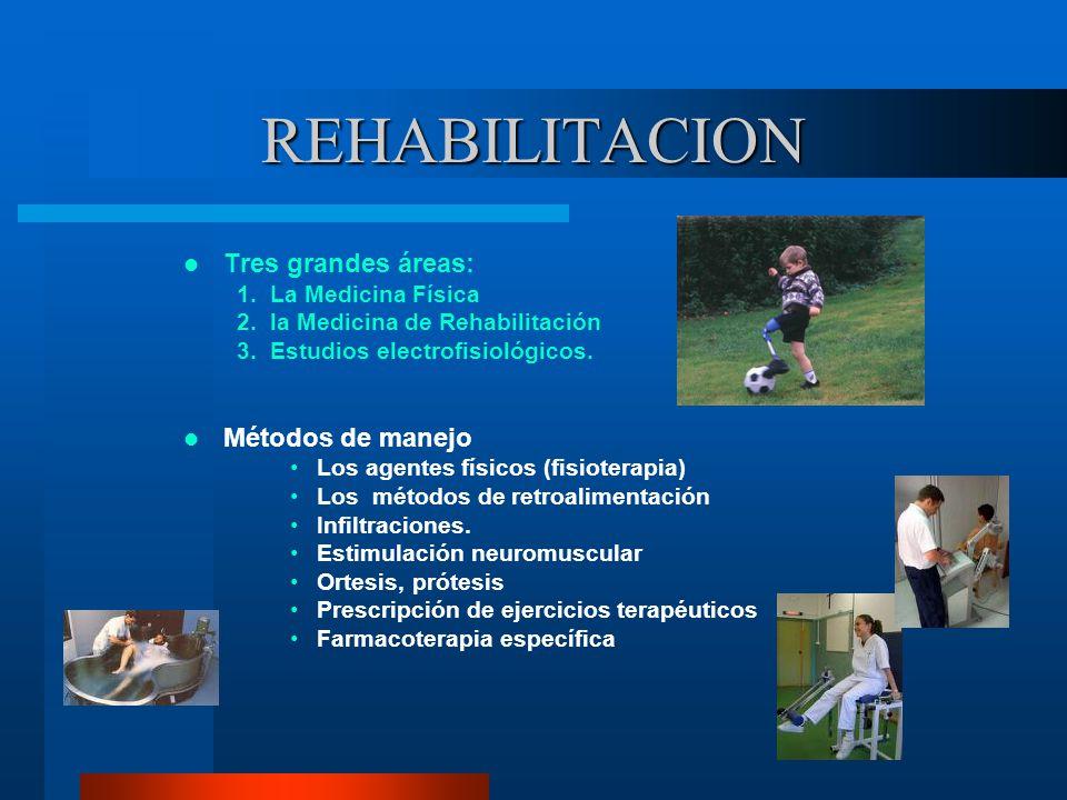REHABILITACION Tres grandes áreas: Métodos de manejo