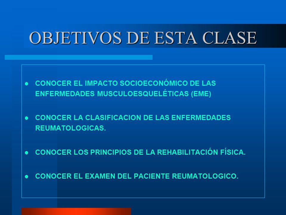 OBJETIVOS DE ESTA CLASE
