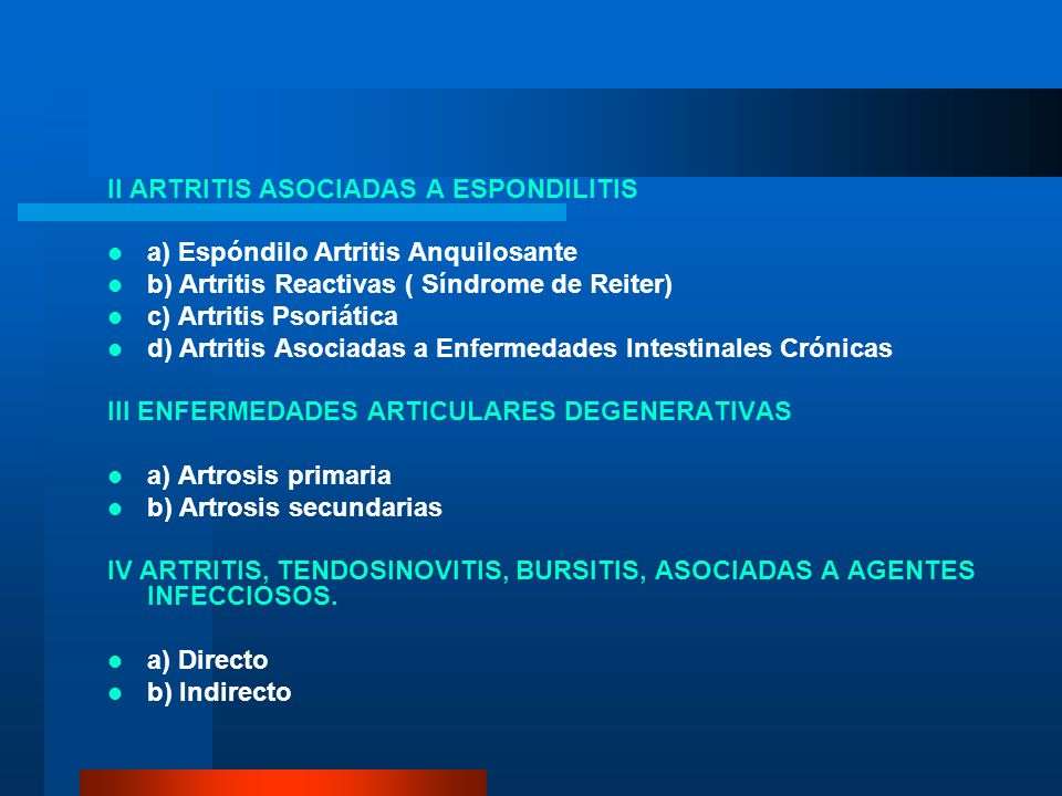 II ARTRITIS ASOCIADAS A ESPONDILITIS