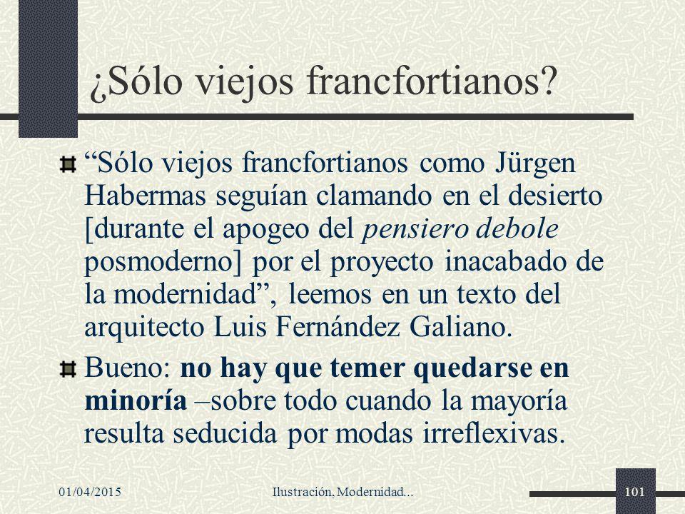 ¿Sólo viejos francfortianos